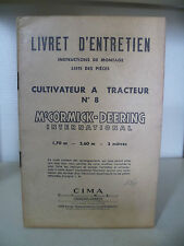 Catalogue Agricole - Livret D'entretien - 1949 - McCormick Deering International