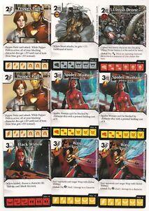 Marvel Dice Masters Lot ( 39 Cards) W/Widow-Iron Man-Venom-Punisher-Thanos-Thor+