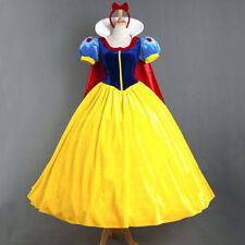 Disney Snow White Princess Cosplay Costume Halloween Fairytale Party Ball Gown