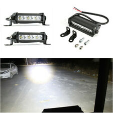2pcs 3LED Spot Work RV Light Bar Beam Off-Road Driving Fog Lights 12V 6500K 30W