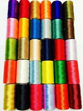 15 Vibrent Spools Sewing Machine Indian Silk Threads BROTHER,JANOME,GUTERMAN