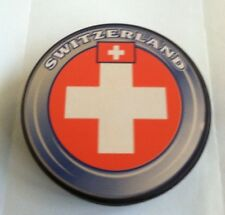 Switzerland Flag Hockey Puck official size & weight Un-signed