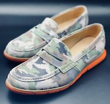 NEW Cole Haan Grand.OS Camo Orange Bottom Penny Loafers C12482 Size 8.5 RARE