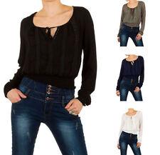 Markenlose Damenblusen,-Tops & -Shirts im Tuniken-Stil mit Langarm-Ärmelart