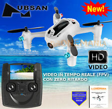 "DRONE Hubsan X4 H107D PL FPV Quadcopter trasmettitore VIDEO realtime LCD 4,3"" RC"