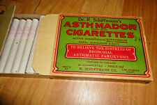 Vintage Dr R Schiffmann's Asthmador cigarettes 24 in a box 8 missing