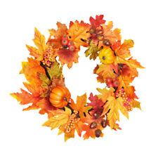 Autumn Oak, Apple, Pumpkin and Berry Wreath 40cm/16 Inch Diameter