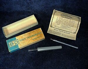 Vintage BD Glass 70625 Asepto Fever Thermometer w Case Box & Certificate