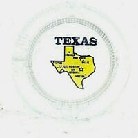 Vintage State Collectable Heavy Glass Texas Cigarette Ashtray Tobacco Austin D