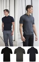 Mens Knitted Short Sleeve Polo Shirt Knitwear Henbury Smart Casual HB716