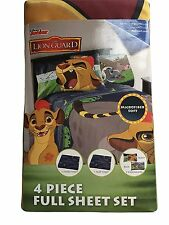 Disney Junior The Lion Guard Microfiber 4 Piece Full Sheet Set NIP....A9