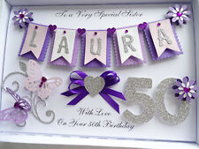 Handmade Personalised Card Birthday 18, 20, 30, 50, 60, 70, 80 Any Age Gift Box