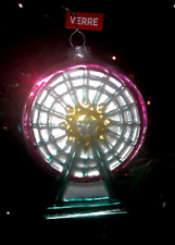 "Ferris Wheel Glass Christmas Ornament Amusement Carnival Park Ride NEW 5"" Tall"