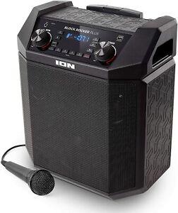 ION Audio Block Rocker Plus 100W Portable Speaker Battery Power