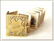 UNIQUE ANTIQUE 1900's SWISS WILLIAM TELL PHOTO ALBUM BOOK LOCKET PENDANT !!!