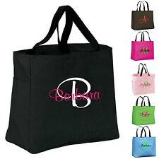 6 Personalized Monogram Tote Bags Bride Bridal Bridesmaid Gift Wedding Teacher