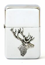 Stag Head Petrol Lighter Engraving Shooting Gift