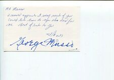 George Musso Chicago Bears HOF 4x NFL Champ Millikin Univ Signed Autograph JSA
