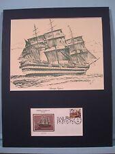 """The Tall Ships - the """"Amerigo Vespucci"""" of Italy & Commemorative Cover"""