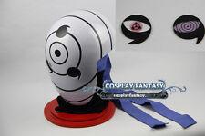 NARUTO Sharingan Akatsuki Ninja Tobi Obito Madara Uchiha Cosplay Helmet Mask