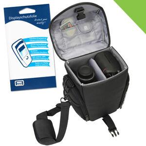 Kamera Tasche L + Folie für Panasonic G81 GX8 GX80 G9 GX9 G70 Fujifilm X T1 T3