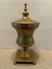 Vintage Solid Brass Communion Altar Chalice with Lid