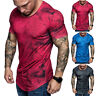 Mens Slim Fit O Neck Short Sleeve Muscle Tee Shirts Casual Tops Blouse T Shirt
