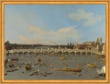 Westminster Bridge, with the Lord Mayors Procession Canal London B A1 02095