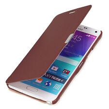 Samsung Galaxy Note 4 Tasche Case Schutz Hülle Etui Cover Flip braun
