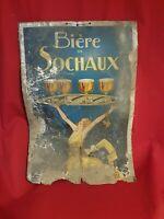 Bière Sochaux, ancien carton publicitaire époque ART DECO