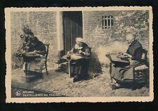 Belgium BRUGES LACE makers Dentellieres flamandes social history c1900/10s? PPC
