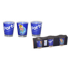 3 Pack Futebol Clube do Porto Portugal Shot Glass Cup