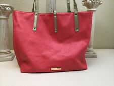 Danielle Nicole Reversible Large Tote Handbag Pink Leather Gold Canvas
