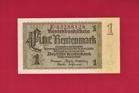 RARE GERMANY / BERLIN UNC NOTE: 1 Eine Rentenmark 1937 (P-173b) 8 Digits Serial