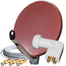 Sat-Schüssel GIBERTINI 85 cm ALU LNB Quad Full HDTV 3D  Kabel 120dB 80 90
