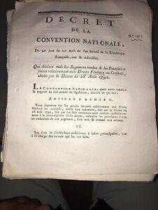 RÉVOLUTION.DOCUMENT SUR L'ABOLITION MEUBLES DES DROITS FEODAUX. AN SECOND (1792)