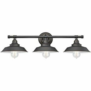 Westinghouse 6343400 Iron Hill Three-Light Wall Fixture,Oil Rubbed Bronze Finish