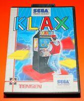 Klax Games VideoGames Gioco Videogioco per Console Sega Master System Used