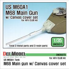 Def. Modell, US M68 Main Gun/W Abdeckplane Set, DM35073, 1:35