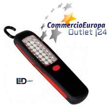 TORCIA PORTATILE LAMPADA 18+3 LED DA LAVORO CON GANCIO E CALAMITA CAMPEGGIO stoc