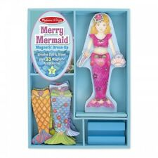 Melissa and Doug Merry Waverly Mermaid Magnetic Dress Up - Kids Magnet Stand Set