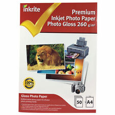 INKRITE PROFESSIONAL PHOTO PAPER / PHOTO GLOSS 260GSM / A4 / 50 SHEETS
