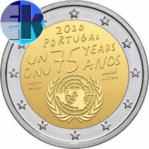 Ek // 2 euro Portugal 2020 75 ans de Organisation Nations Unies ONU