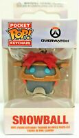 Figura Funko Pop! Pocket Keychain Overwatch Bola de Nieve Exclusivo Navidad