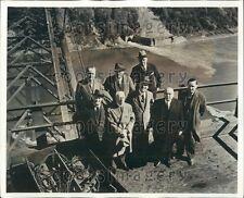 1941 Niagara Parks Commissioners at New Rainbow Bridge NY Press Photo