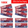100Pcs Donald Trump For President 2020 Bumper Sticker Keep America Great Decal