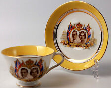 Cup and Saucer Colclough China 1939 George VI Elizabeth Commemorative USA Visit