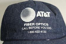 Vintage AT&T FIBER OPTICS Denim Baseball Cap Hat