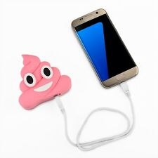 Emoji Mobile Smartphone Tablet Portable Charger 2000mah Power Bank - Poops Pink