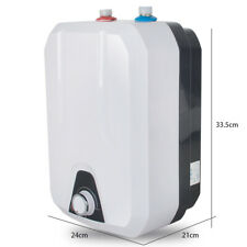 8L Electric Tankless Hot Water Heater Kitchen Bathroom 55℃-75℃ Water-Proof